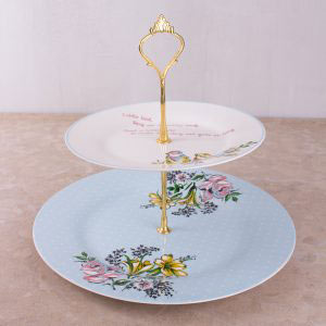 Bird Song 2 Tier Cake Stand
