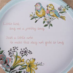 Bird Song Tin Tray
