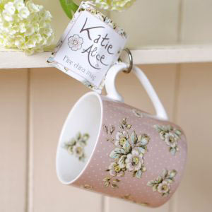 Cottage Flower Pink Mug-0