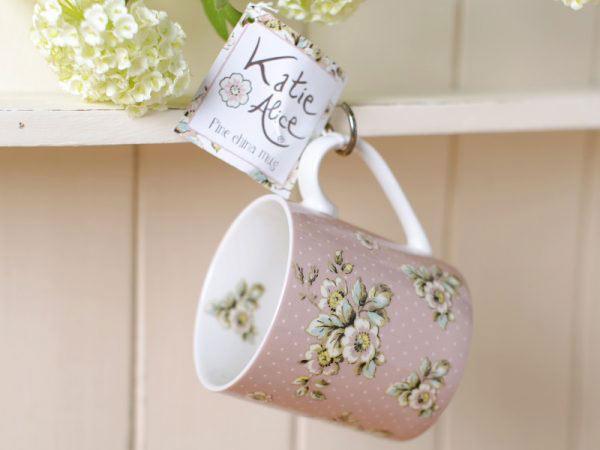 Cottage Flower Pink Mug-0