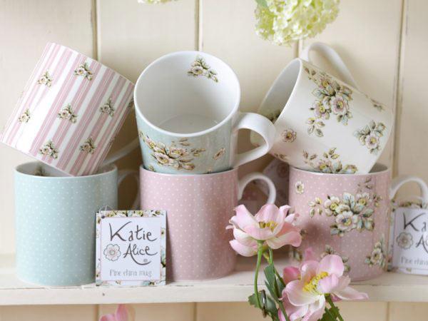 Cottage Flower Pink Mug-746
