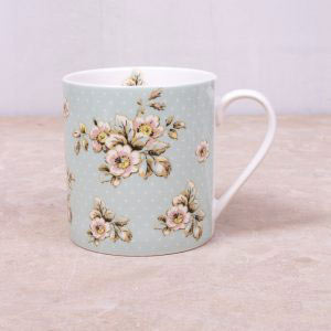 Cottage Flower Green Mug-0