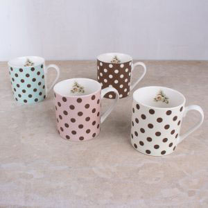 Cottage Flower Set Of 4 Spot Mugs
