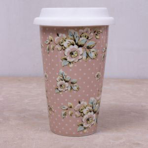 Cottage Flower Travel Mug