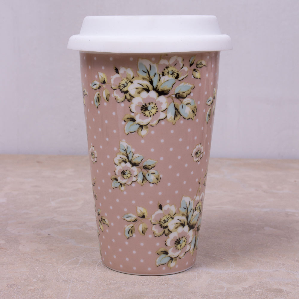 Cottage Flower Travel Mug Katie Alice Katie Alice