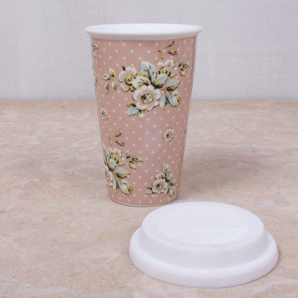 Cottage Flower Travel Mug
