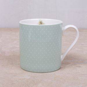 Cottage Flower Green Spot Mug