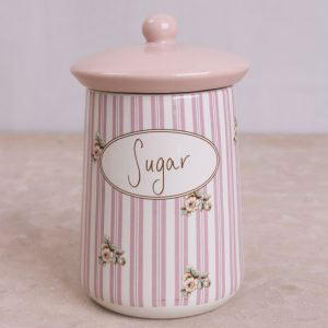 Cottage Flower Ceramic Sugar Jar
