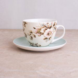 Cottage Flower Breakfast Cup & Saucer