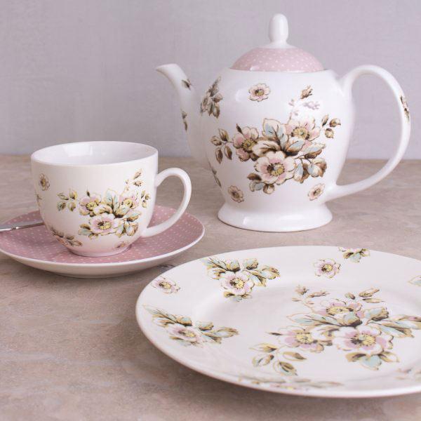 Cottage Flower Teapot-429