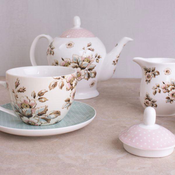 Cottage Flower Breakfast Cup & Saucer
