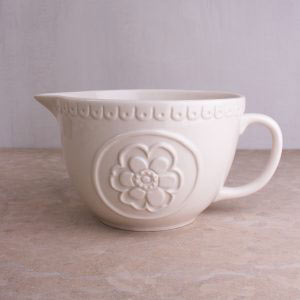 Cottage Flower Cream Embossed Batter Jug