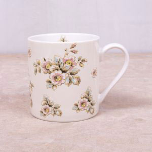 Cottage Flower Cream Mug