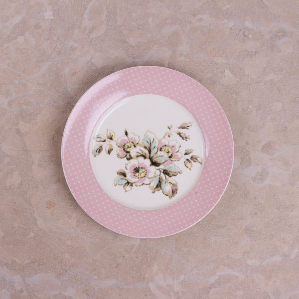 Cottage Flower Set Of 4 Side Plates-414