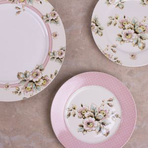 Cottage Flower Set Of 4 Side Plates-0