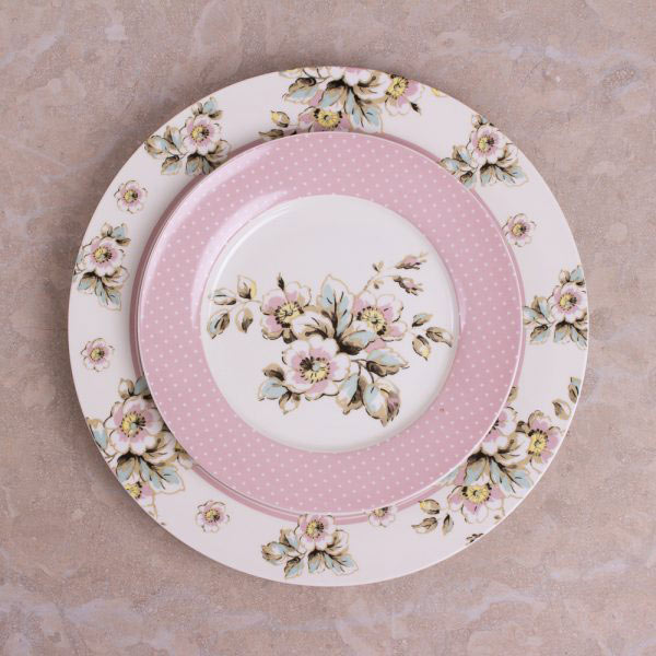 Cottage Flower Set Of 4 Side Plates-417