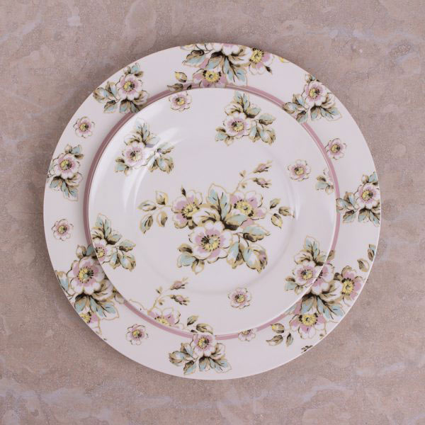 Cottage Flower Set Of 4 Side Plates-415