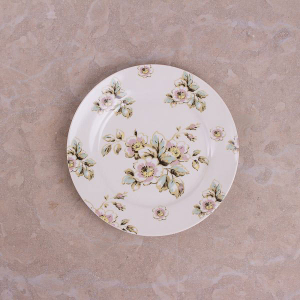 Cottage Flower Set Of 4 Side Plates-413