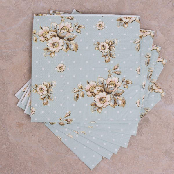 Cottage Flower Pack Of 25 Paper Napkins
