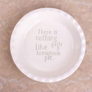 Cottage Flower Pie Dish