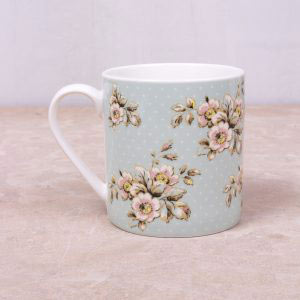 Cottage Flower Green Mug-399