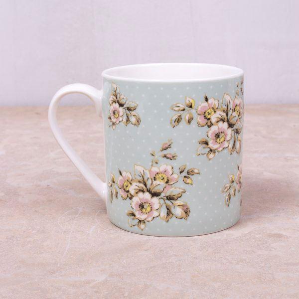 Cottage Flower Green Mug-399