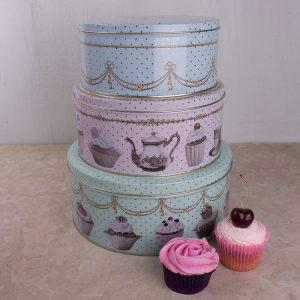 Cupcake Couture Set Of 3 Cake Tins