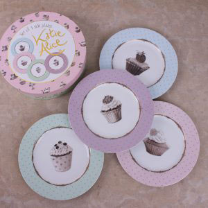Cupcake Couture Set Of 4 Side Plates