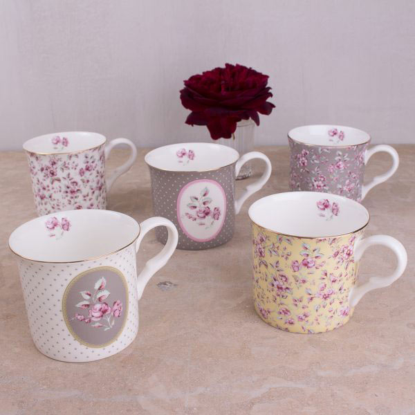 Ditsy Floral White Oval Palace Mug