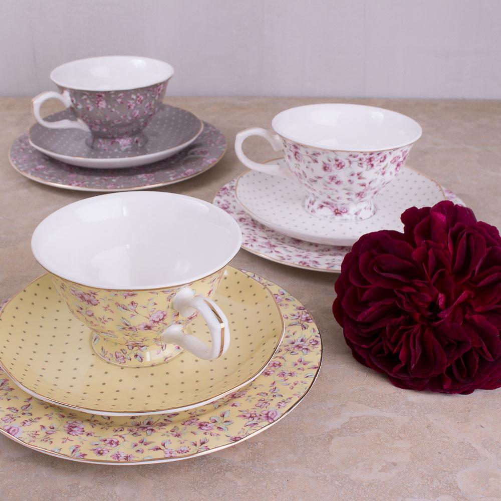 Ditsy Floral Grey Afternoon Tea Set Katie Alice Katie