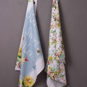 English Garden Set Of 2 Tea Towels