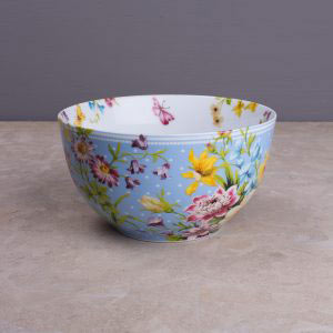 English Garden Blue Spot Cereal Bowl