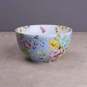 English Garden Blue Spot Cereal Bowl