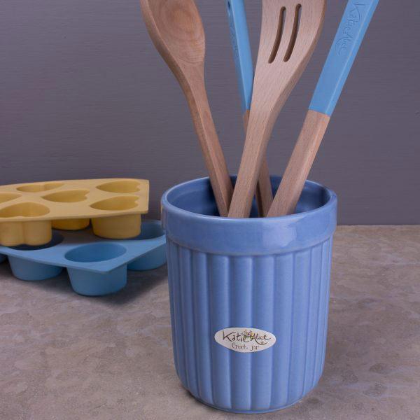 English Garden Blue Crock Pot