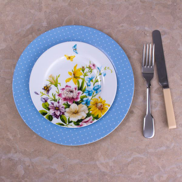 English Garden Floral Side Plate