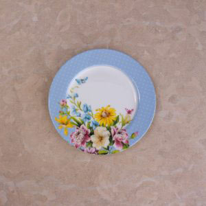 English Garden Blue Spot Side Plate