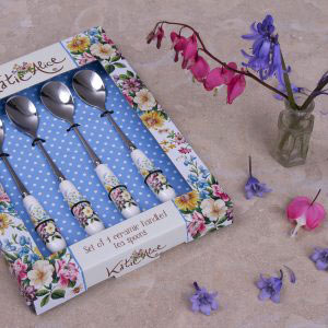 English Garden Set Of 4 Teaspoons