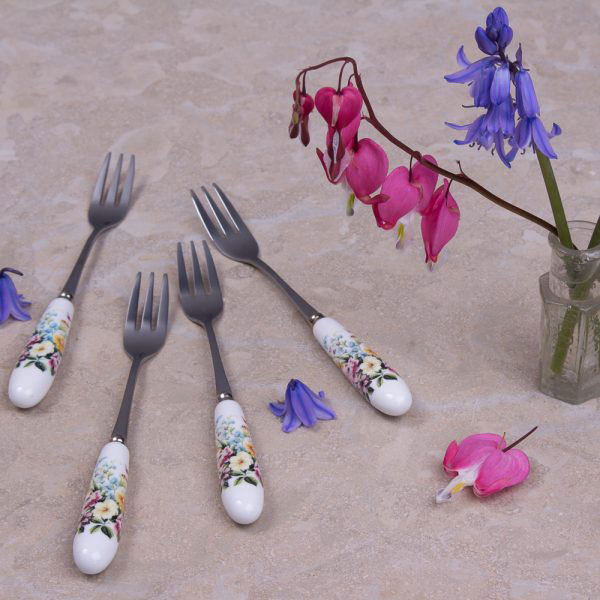 English Garden Set Of 4 Pastry Forks
