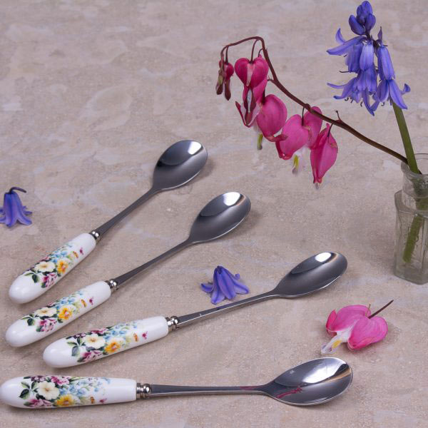 English Garden Set Of 4 Teaspoons