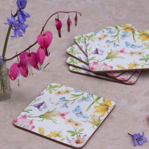 English Garden Set Of 6 Coasters