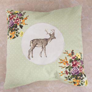 Highland Fling Large Stag Cushion