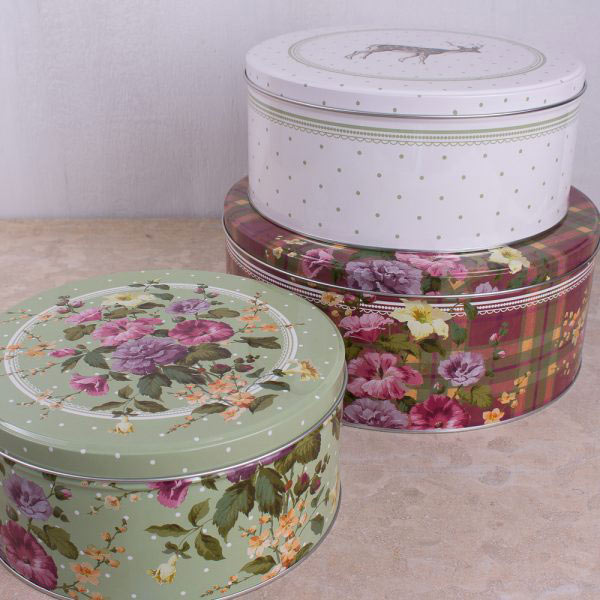 Highland Fling Set Of 3 Cake Tins