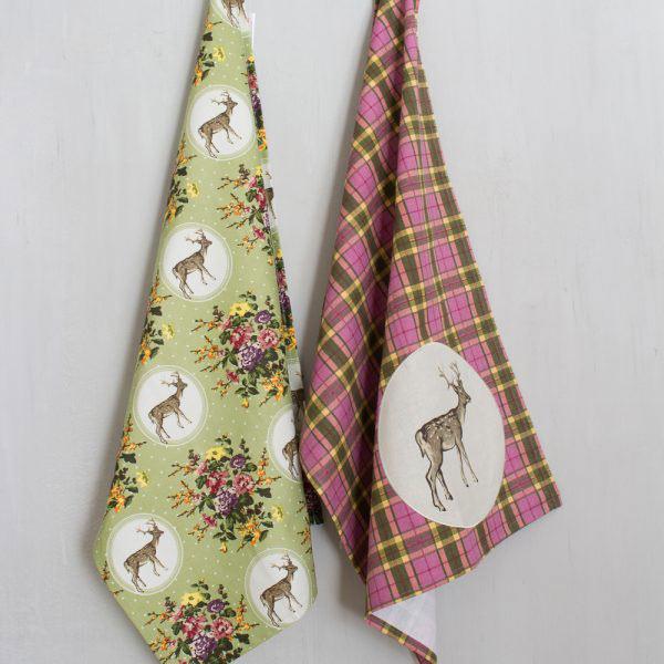 Highland Fling Set Of 2 Tea Towels-274
