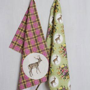 Highland Fling Set Of 2 Tea Towels-0