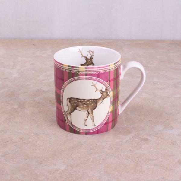 Highland Fling Tartan Stag Mug