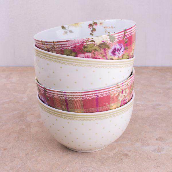 Highland Fling Tartan Floral Cereal Bowl-302