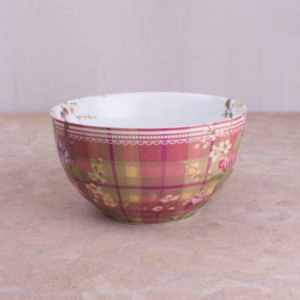 Highland Fling Tartan Floral Cereal Bowl-301