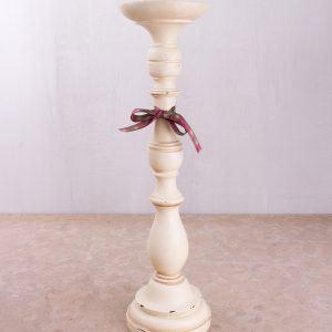 Highland Fling Large Cream Candlestick