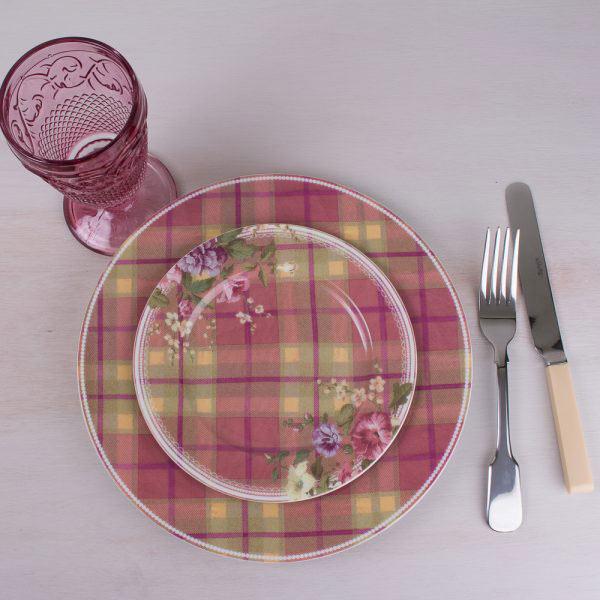 Highland Fling Tartan Floral Side Plate-322