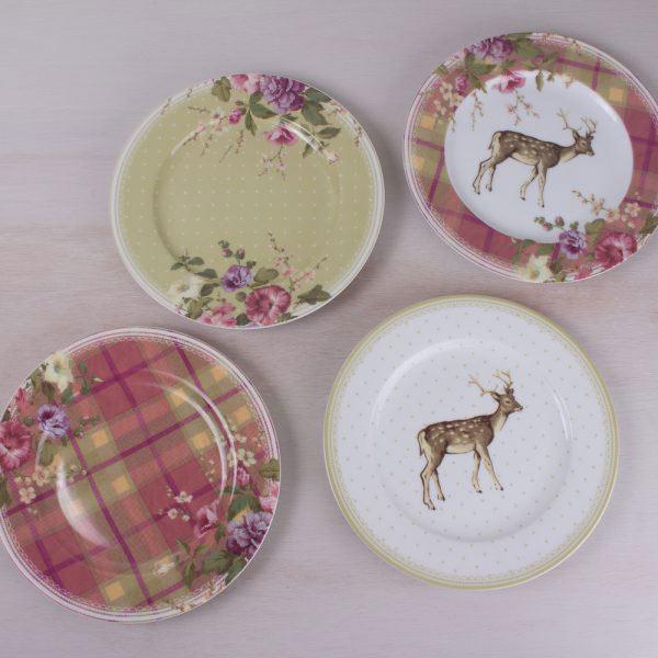 Highland Fling Tartan Floral Side Plate-321